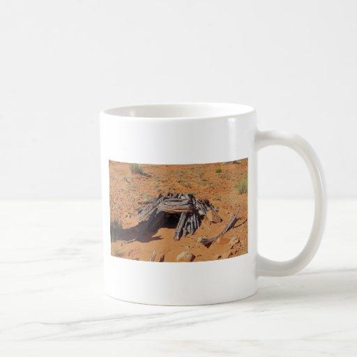 Mystery desert cave in utah coffee mugs