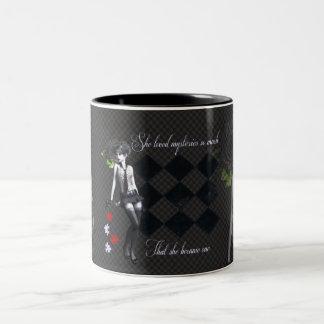 Mystery Girl Two-Tone Coffee Mug
