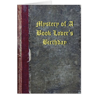 Mystery of a Book Lover's Birthday Card