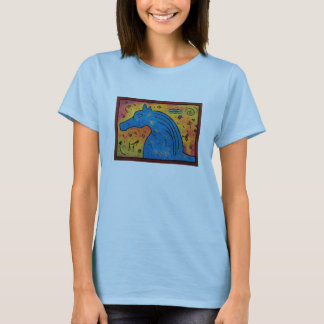 Mystery Of Blue Horse Shirt