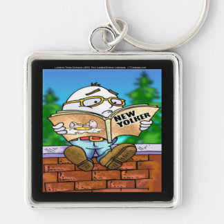 Mystery Of Humpty Dumpty Rick London Gifts Silver-Colored Square Keychain