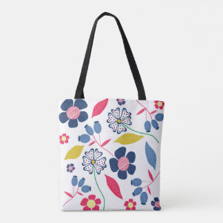 Mystery of Seasons Tote Bag Floral