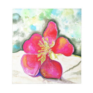 Mystery Pink Flower Watercolor Notepad