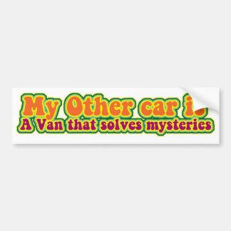 Mystery solving van! bumper sticker