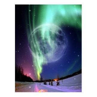 Mystic Beautiful bright big full blue moon Postcard