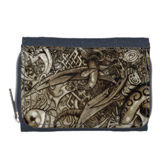 Mystic Blades Intricate Detailed Hand Drawing Wallet