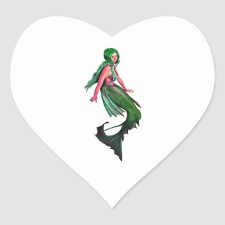 Mystic Blue Heart Sticker