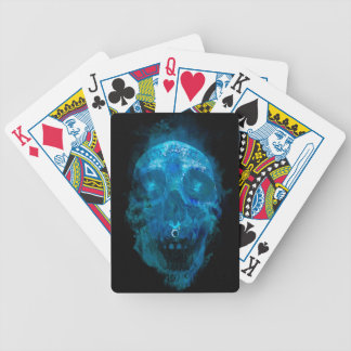 Mystic Blue Sugar Skull Bicycle Playing Cards