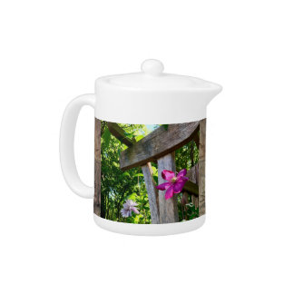 Mystic Clematis Flower Small Teapot