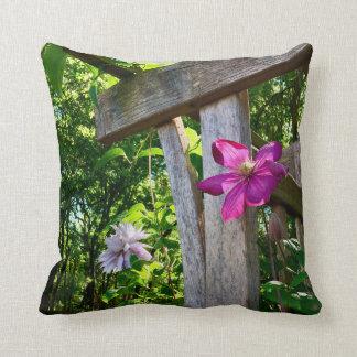 "Mystic Clematis Flower Throw Pillow 16"" x 16"""