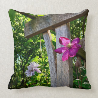 "Mystic Clematis Flower Throw Pillow 20"" x 20"""
