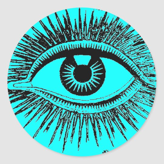 Mystic Eye Sees All ICU Classic Round Sticker