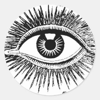 Mystic Eye Sees All ICU Classic Round Sticker