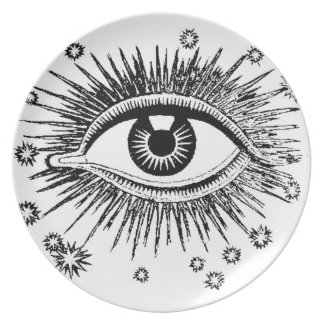 Mystic Eye Watches You Eat Plate