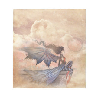 Mystic Fairy Vampire in Clouds Notepad