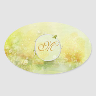 Mystic Floral Watercolor Monogram Sticker