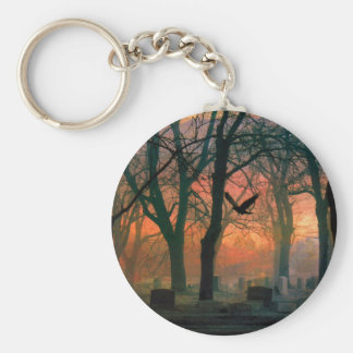 Mystic Grave Yard Basic Round Button Keychain