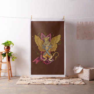 Mystic Gryphon with swords Fabric