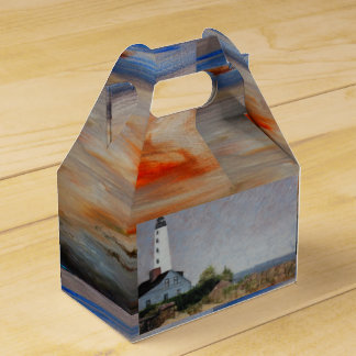 Mystic Harbor Lighthouse Gable Favor Box