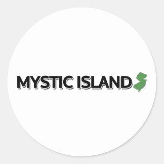 Mystic Island, New Jersey Classic Round Sticker
