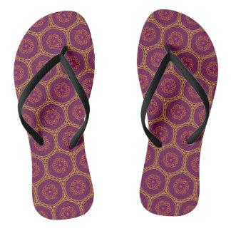 Mystic Kaleidoscope Pattern Flip Flops