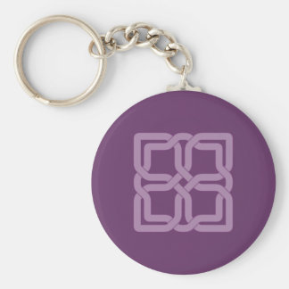 Mystic Lilac celtic knot Basic Round Button Keychain