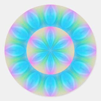 Mystic mandala symbol round sticker