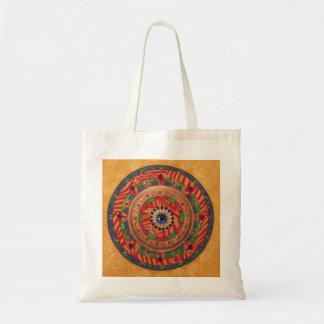 Mystic Mandala: Unique Painting Tote