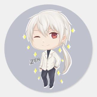 Mystic Messenger Chibi Zen Round Sticker