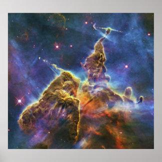 Mystic Mountain Carina Nebula HH 901 HH 902 Poster
