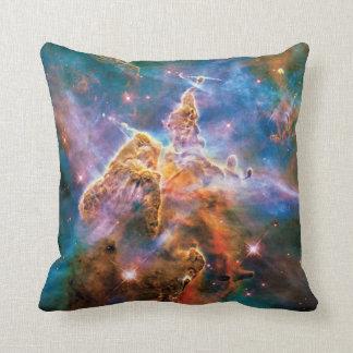Mystic Mountain Carina Nebula Hubble Space Photo Throw Pillow