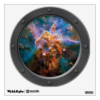 Mystic Mountain Carina Nebula Porthole Space View Wall Decal