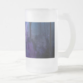 Mystic Night Frosted Glass Beer Mug
