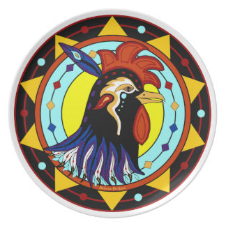 Mystic Rooster Dinner Plate