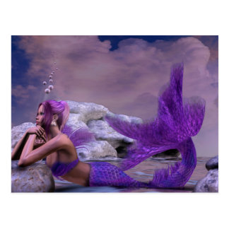 Mystic Siren Fantasy Mermaid Art Postcard