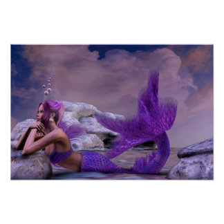Mystic Siren Fantasy Mermaid Artwork Poster