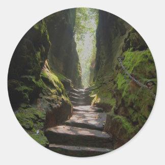 Mystic Stairway Classic Round Sticker