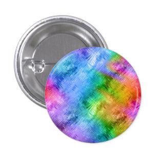Mystic Topaz Blue Glassy Texture 1 Inch Round Button