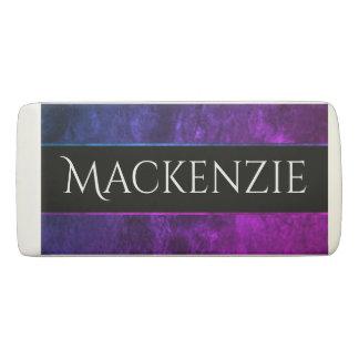 Mystic-Topaz Office | Name Chic Purple Pink Blue Eraser