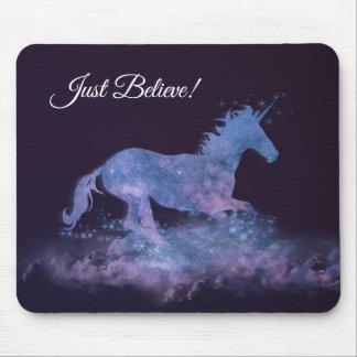 Mystic Unicorn Silhouette Mouse Pad