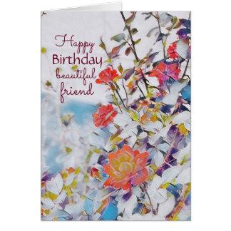 Mystic Watercolor Roses Birthday Card