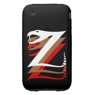 Mystic Zizzle Znake Tough iPhone 3 Tough Case
