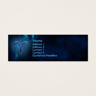 Mystic Zodiac - Aries Mini Business Card