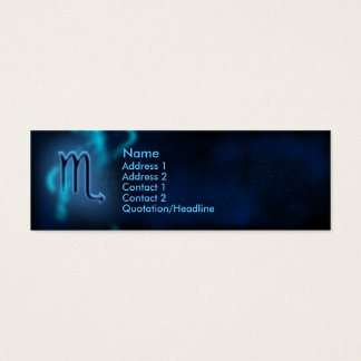 Mystic Zodiac - Scorpio Mini Business Card