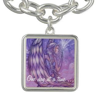 Mystical Angel Fantasy Art Sobriety Charm Bracelets