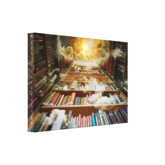 Mystical Artwork, Infinite Bookshelf Canvas Print