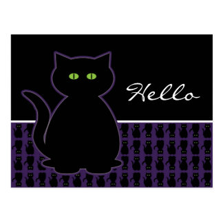 Mystical Black Cat Postcard