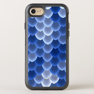 Mystical Blue and White Scale OtterBox Symmetry iPhone 7 Case