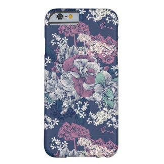 Mystical Blue Purple floral sketch artsy pattern Barely There iPhone 6 Case