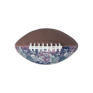 Mystical Blue Purple floral sketch artsy pattern Football